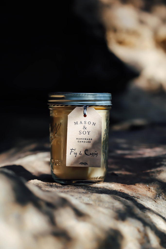 Mason Wide Mouth Jar (437 mls) Scented Soy Candle