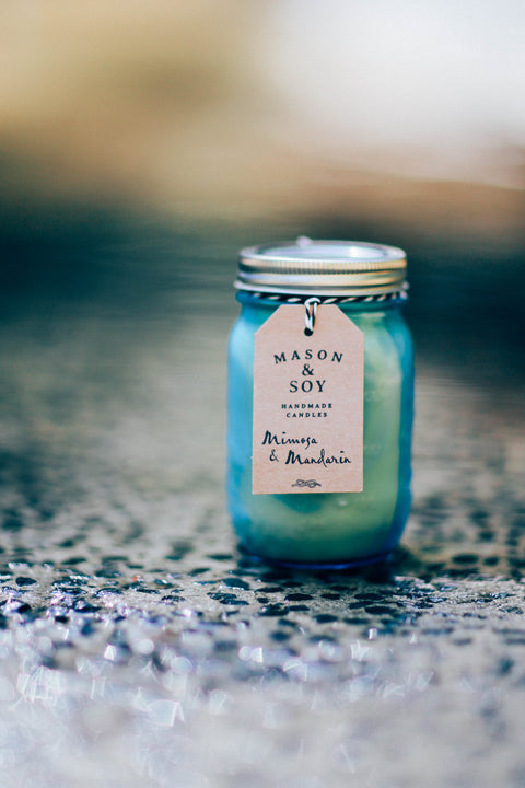Blue Heritage Mason Jar (437 mls) Scented Soy Candle