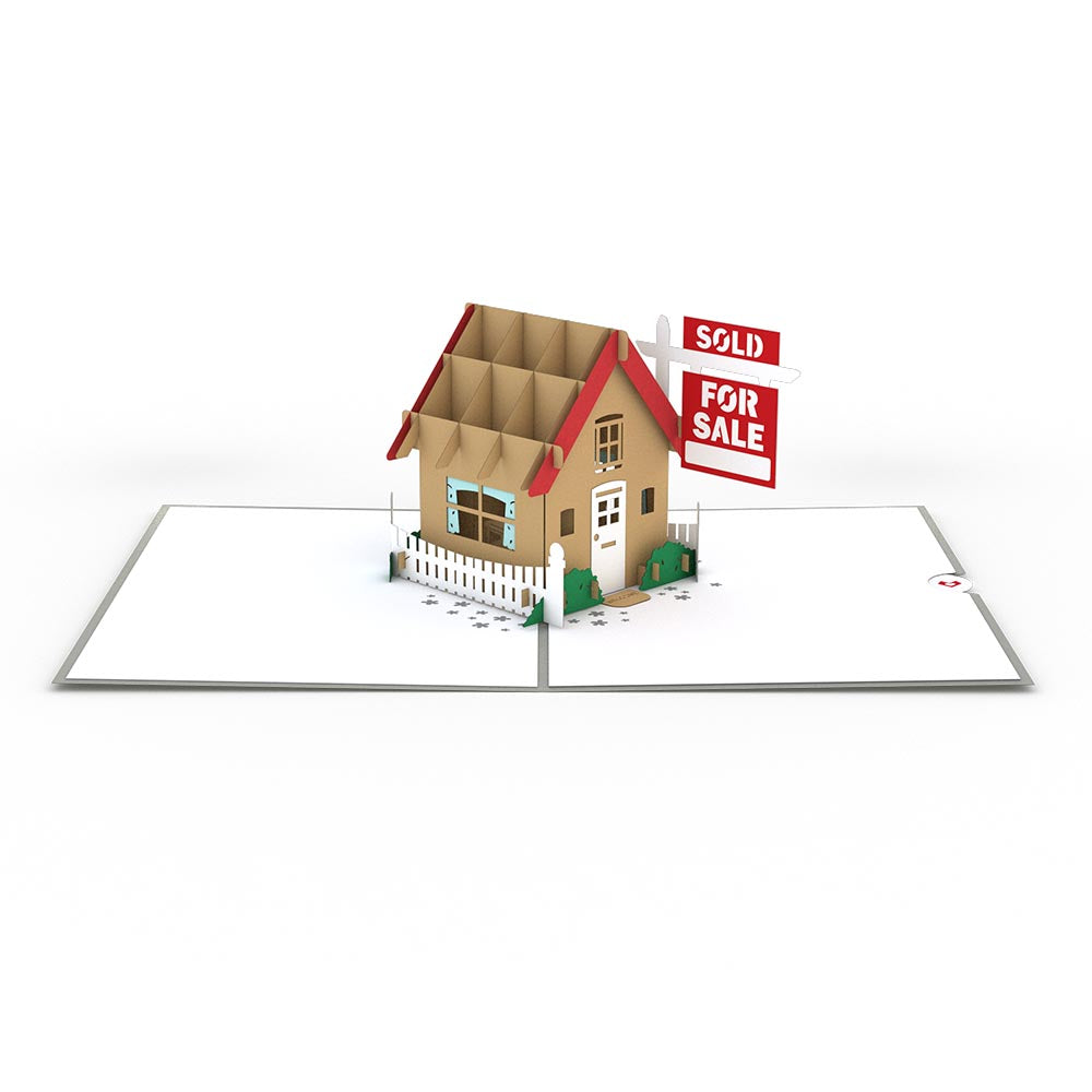 Brown House for Sale pop up card