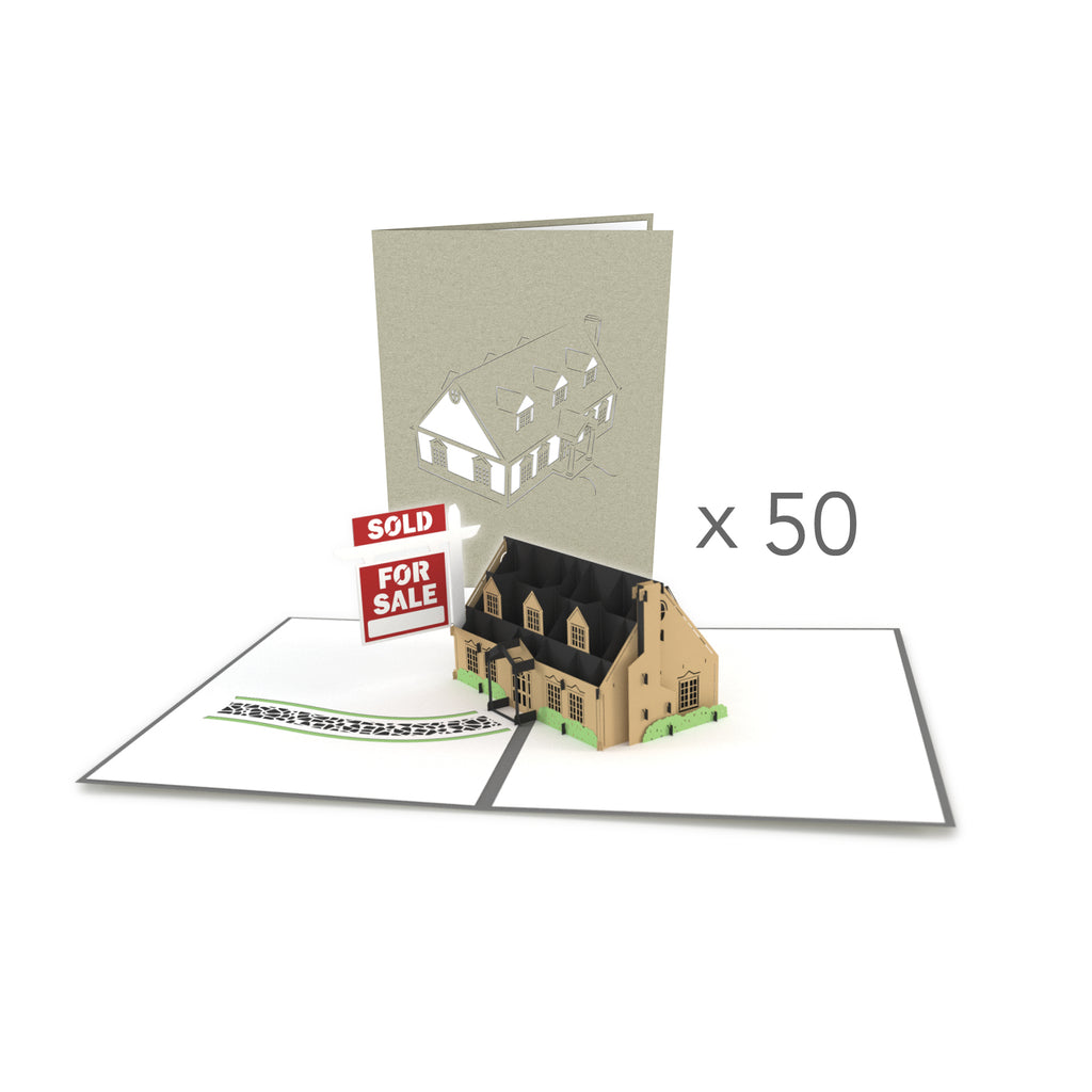 House for Sale Bulk 50 Pack pop up card
