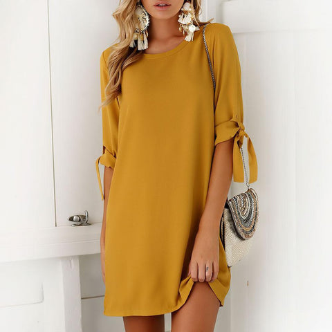 Bow tie Long Sleeves Dress