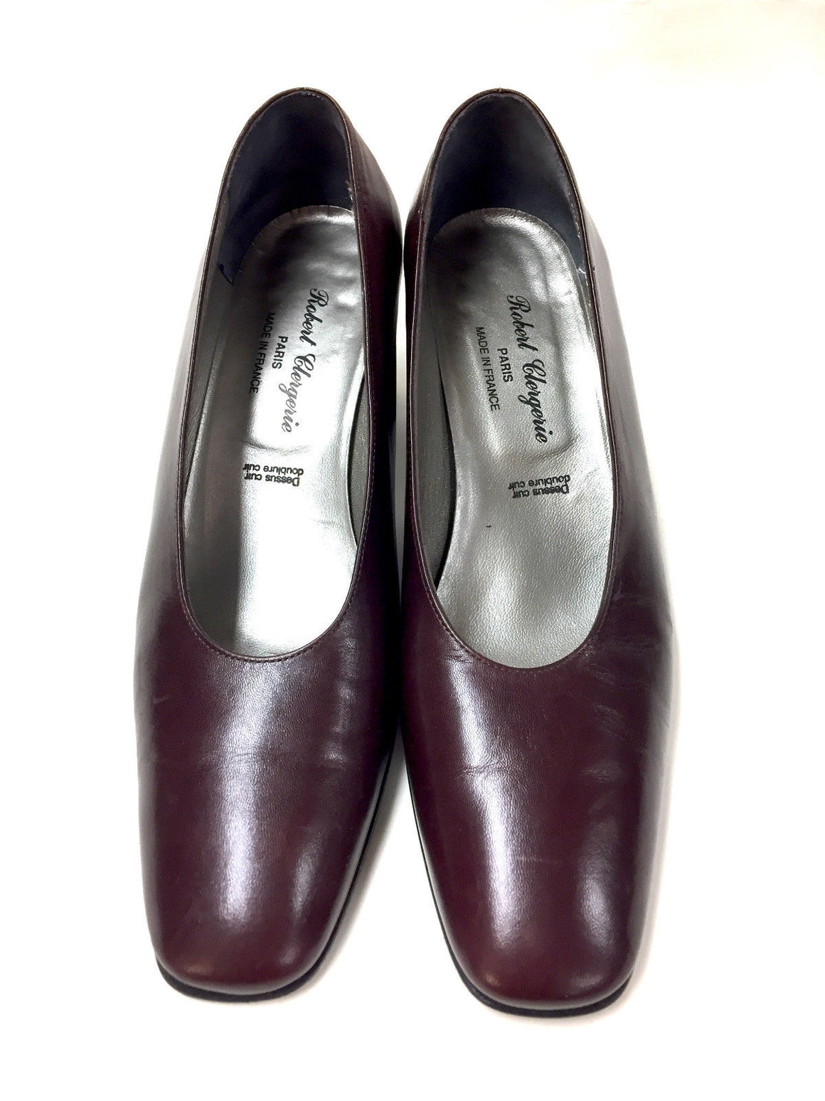 ROBERT CLERGERIE Cordovan Leather Round Toe Heel Pumps  Size: 8B