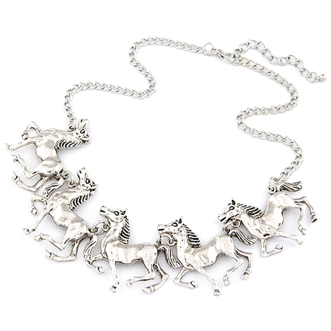 Horse Statement Necklace - Florence Scovel - 2