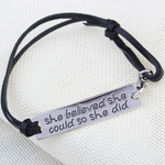 She Believed She Could So She Did Hand Stamped Bracelet - Florence Scovel - 4