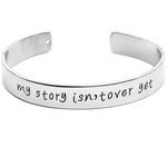 My Story Isn't Over Yet Engraved Bangle - Florence Scovel - 1