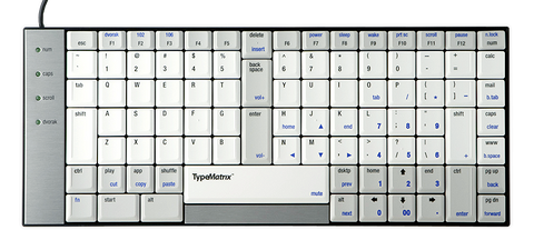 TypeMatrix Ergonomic Keyboard USB EZR203USB