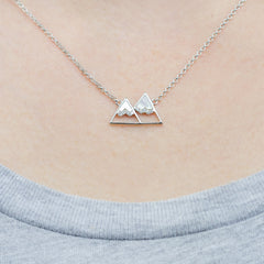 Mountain Pendant | Silver