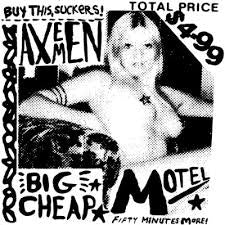 AXEMEN-BIG CHEAP MOTEL LP VG COVER VG+