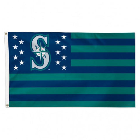 Mariners Stars and Stripes Deluxe 3x5 Flag