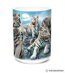 576273 Night Tiger Collage Mug