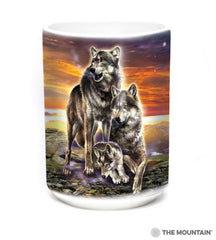576282 Wolf Family Sunrise Mug