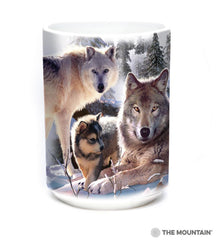 576283 Wolf Family Mountain Mug