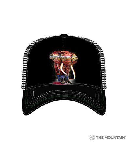 6322 Painted Elephant Trucker Hat