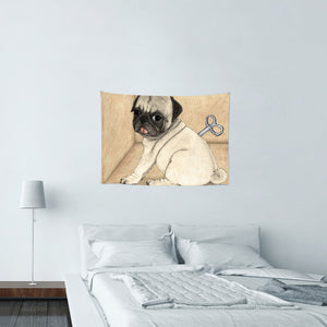 UMade★壁幔Wall Tapestry★ Toy Dog; Pug - Barruf
