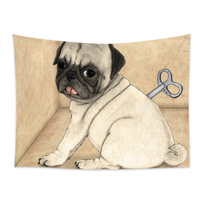 ★壁幔Wall Tapestry★ Toy Dog; Pug
