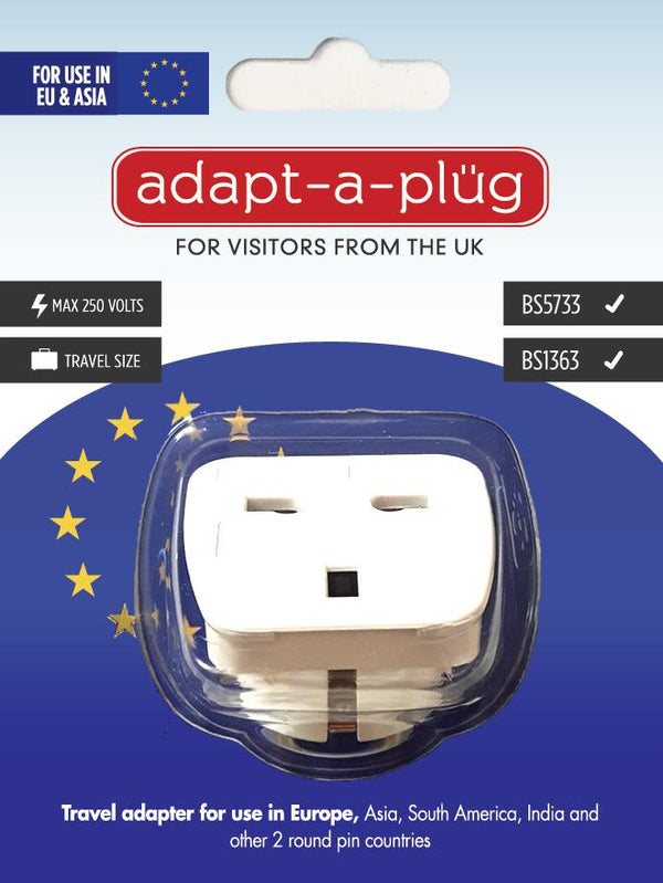 Travel Adapter for Use In Europe