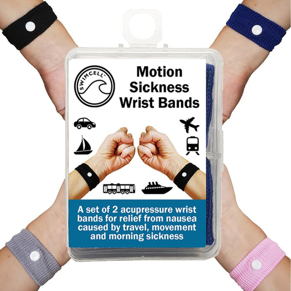SwimCell Travel Sickness wrist bands for adults and children 4 colours