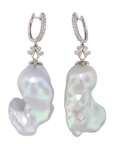 Large Baroque freshwater Pearl Earrings