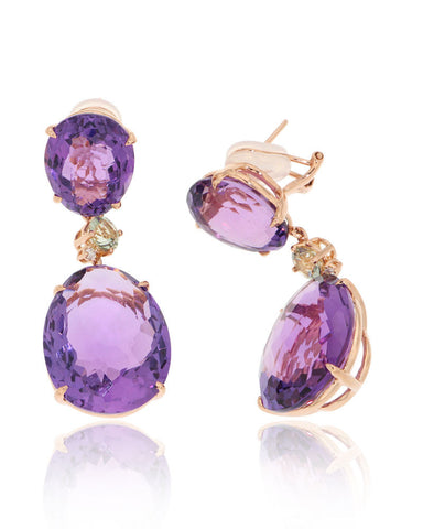 Unique, Attractive, Amethyst, Earrings, Gemstone Jewellery