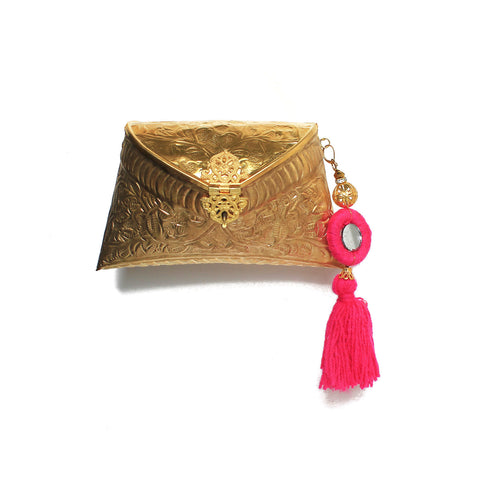 Golden Bag with Tassel