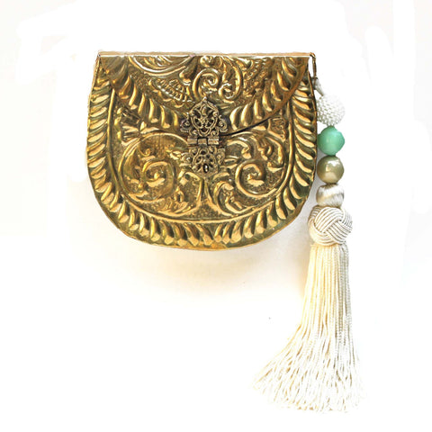 SOLD OUT - Golden Purse with Tassels