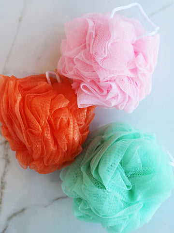 Colourful Bath Pouf