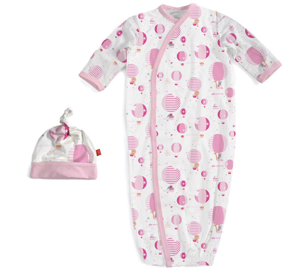 Up In The Air Pink Magnetic Gown & Hat