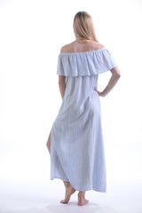 Dana Dress / Periwinkle Stripe
