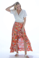 La Playa Skirt / Deep Orange