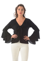 Jet Set Top / Black Rayon