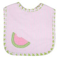 Watermelon Applique Bib - 3 Marthas - Miami Baby Store