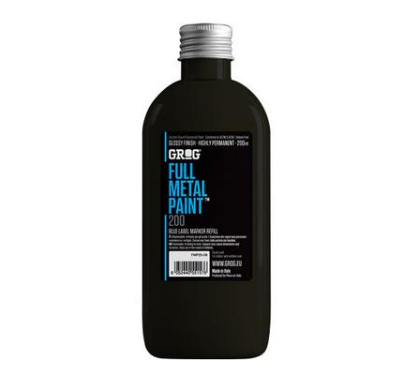 Grog Full Metal Paint 200ml - Black