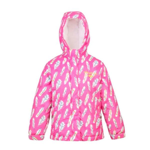 Girls Feather Design Coat - souzu.co.uk