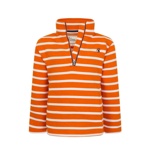 Orange Stripe Jersey Fleece - souzu.co.uk