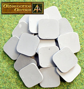 59022 30mm Square Resin Cartouche Bases (20)