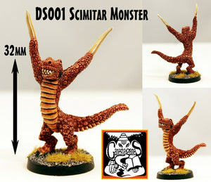 DS001 Scimitar Monster (32mm tall)