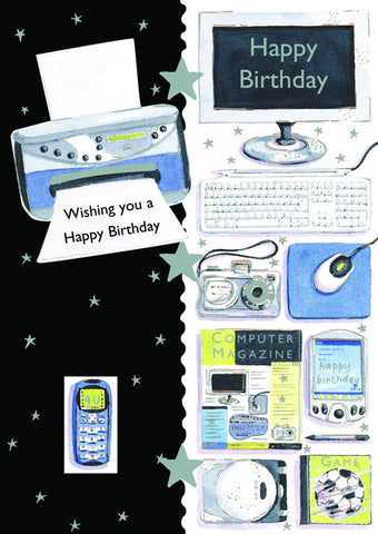 Birthday Card - Technology - 4PC16