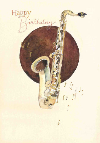 Birthday Card - Saxophone - SO81