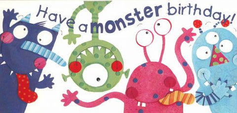 Birthday Card - Have a monster birthday - RHMONSC