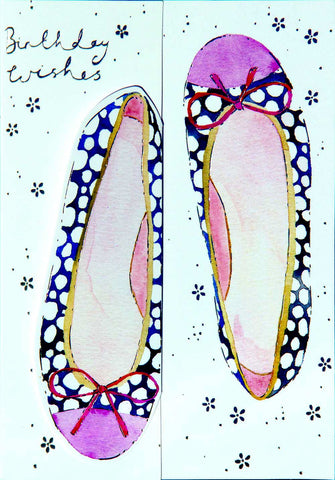 Birthday Card - Spotty Pumps - S114