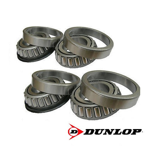 Set of 4 - 44643/44610 + 44643L/44610 - Dunlop Trailer Tapered Roller Wheel Bearings