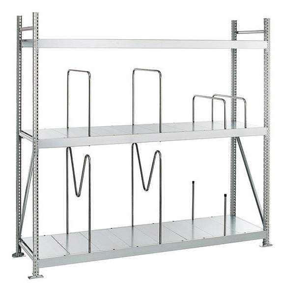 Longspan Shelving with steel panels