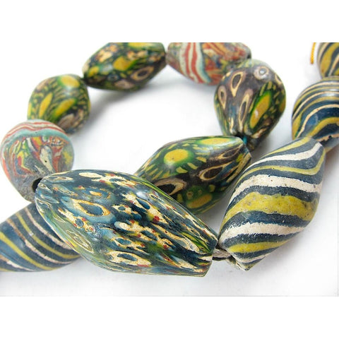 "Hand Wound and Inlaid "" Art Glass"" Beads"