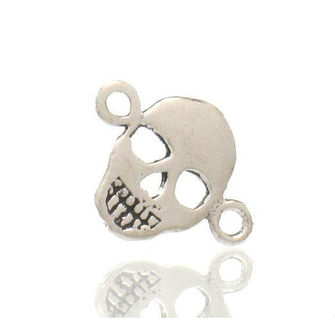 Sterling Silver Mini Skull Connector