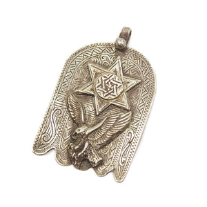 Moroccan Hamsa w/ Star of David and Eagle Overlay