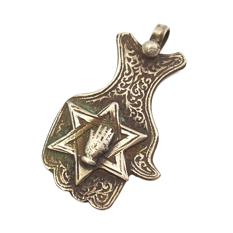 Moroccan Hamsa with Star of David and Hand Overlay