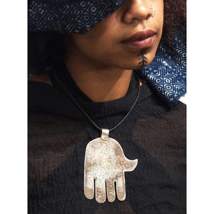 Moroccan Hamsa w/ Hebrew Inscription