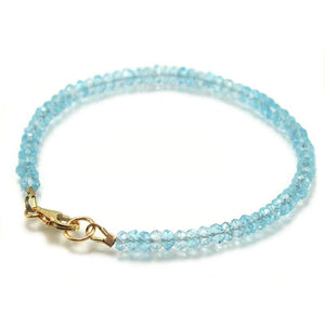 Blue Topaz Bracelet with Gold Filled Trigger Clasp