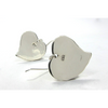Hand Hammered Heart Sterling Silver Earrings