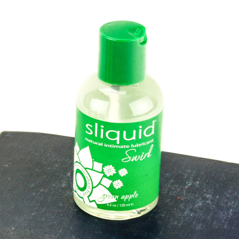 Sliquid Swirl Flavored Water Based Lubricant Green Apple
